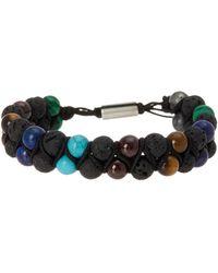 Steve Madden - Garnet Beaded Bracelet - Lyst
