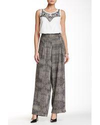 Jessica Simpson - Printed Wide Leg Pant - Lyst