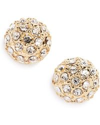 Judith Jack - 10k Gold Plated Sterling Silver Fireball Cz Stud Earrings - Lyst