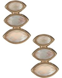 Judith Jack - Gold Plated Sterling Silver Mother Of Pearl Marquise Cluster Earrings - Lyst
