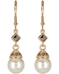 Judith Jack - Sterling Silver Faux Pearl Drop Earrings - Lyst