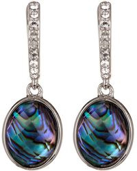 Judith Jack - Sterling Silver Crystal & Abalone Drop Earrings - Lyst