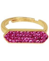 Saachi - Fuchsia Glam Bar Adjustable Ring - Lyst