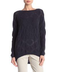 Jarbo - Cashmere Diamond Knit Sweater Top - Lyst