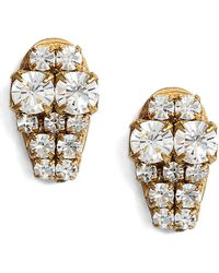Sandy Hyun - Graduated Crystal Stud Earrings - Lyst