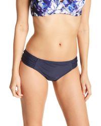CYN & LUCA - Shirred Bikini Bottoms - Lyst