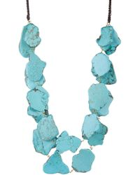 Panacea - Chunky Turquoise Double Row Necklace - Lyst