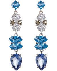 Judith Jack - Sterling Silver Multicolour Crystal & Marcasite Drop Earrings - Lyst