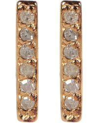 Kenneth Cole - Sterling Silver Diamond Detail Bar Stud Earrings - 0.06 Ctw - Lyst