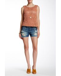 Articles of Society - Madre Distressed Denim Short - Lyst