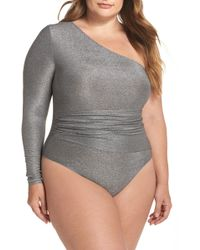Only Hearts - One-shoulder Thong Bodysuit (plus Size) - Lyst