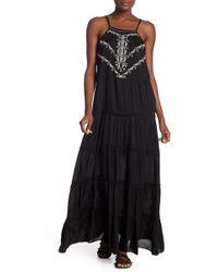 Boho Me - Front Embroidered Maxi Dress - Lyst