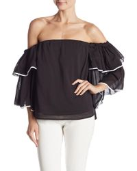 1.STATE - Off-the-shoulder Bell Sleeve Top - Lyst