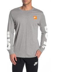 5c4089710 Nike Just Do It Long Sleeve Tee in Red for Men - Lyst