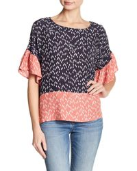 Two By Vince Camuto - Drop Shoulder Ruffle Sleeve - Lyst