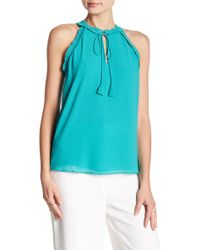 Naked Zebra - Beach Please Sea Green Tank Top - Lyst