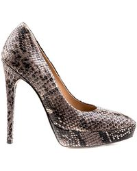 Perla Formentini - Zona Croc Embossed Leather Pump - Lyst