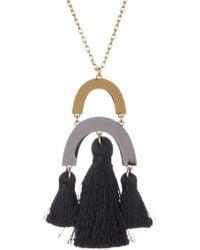 BaubleBar - Shamia Tassel Pendant Necklace - Lyst