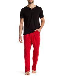 Papi - Henley Tee & Pant Loungewear Set - Lyst