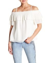 Jessica Simpson - Chris Cold Shoulder Pleat Blouse - Lyst