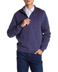Bugatchi - Long Sleeve Quarter Zip Down Jumper - Lyst