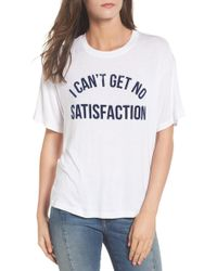 Daydreamer - No Satisfaction Graphic Tee - Lyst
