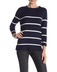 Bobeau - Crew Neck 3/4 Sleeve Sweater (regular & Petite) - Lyst