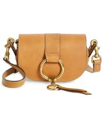Frye - Mini Ilana Harness Leather Saddle Bag - Lyst