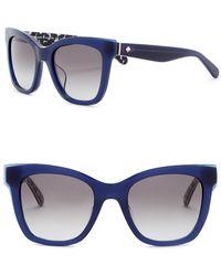 Kate Spade - Emmy 51mm Square Cat Eye Sunglasses - Lyst