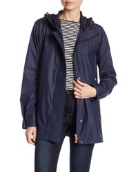 Save The Duck - Snap Button Raincoat - Lyst