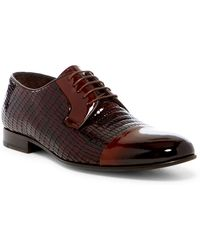 Jared Lang - Croc Embossed Leather Dress Shoe - Lyst
