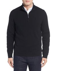 John W. Nordstrom - Regular Fit Half Zip Cashmere Jumper (big) - Lyst