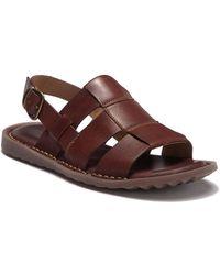 1019ecc035f1 Lyst - Born Mark Leather Sandal in Brown for Men