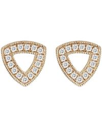Dana Rebecca - 14k Rose Gold Diamond Accented Emily Sarah Open Triangle Earrings - 0.26 Ctw - Lyst