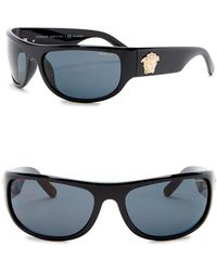 Versace - Rock Icons 63mm Rectangle Sunglasses - Lyst