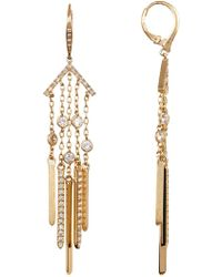 Jenny Packham - Fringe Embellished Drop Earrings - Lyst