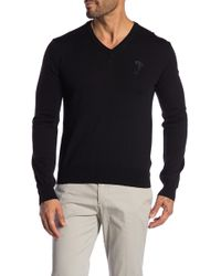 Versace - V-neck Wool Sweater - Lyst