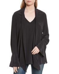 Equipment - Jacqueleen Tie Neck Silk Blouse - Lyst