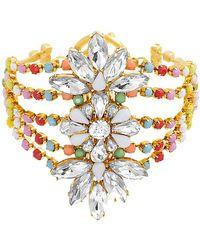 Steve Madden - Crystal Glass Cuff Bracelet - Lyst