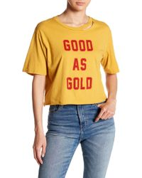 Project Social T - Good As Gold Crop Top - Lyst