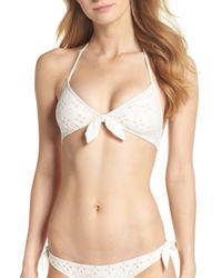 J.Crew - Rosie Tie Front Bikini Top - Lyst