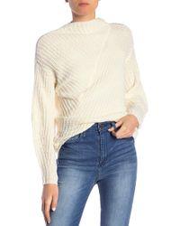 William Rast - Robbin Mock Neck Ribbed Knit Sweater - Lyst