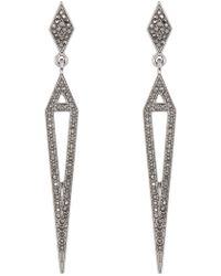 Panacea - Linear Diamond Shaped Earrings - Lyst