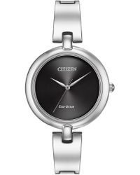Citizen - Women's Silhouette Silver Bangle Quartz Watch - Lyst