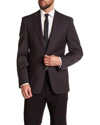 CALVIN KLEIN 205W39NYC - Solid Gray Wool Suit Jacket - Lyst