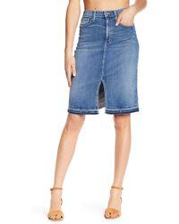 Level 99 - Penny High Waist Denim A-line Skirt - Lyst