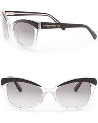 Kate Spade - Amara 55mm Cat Eye Sunglasses - Lyst