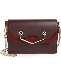 TOPSHOP - Premium Leather & Suede Soko Shoulder Bag - Lyst