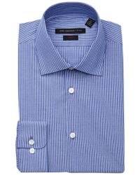 John Varvatos | Patterned Slim Fit Dress Shirt | Lyst