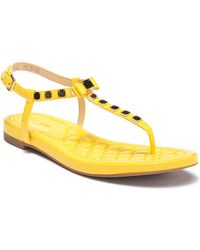 Cole Haan - Tali Mini Bow Studded Leather Sandal - Lyst